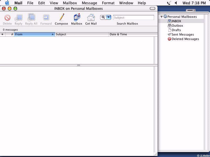 Macintosh OS v10 1 -- Mail (ModemHelp)