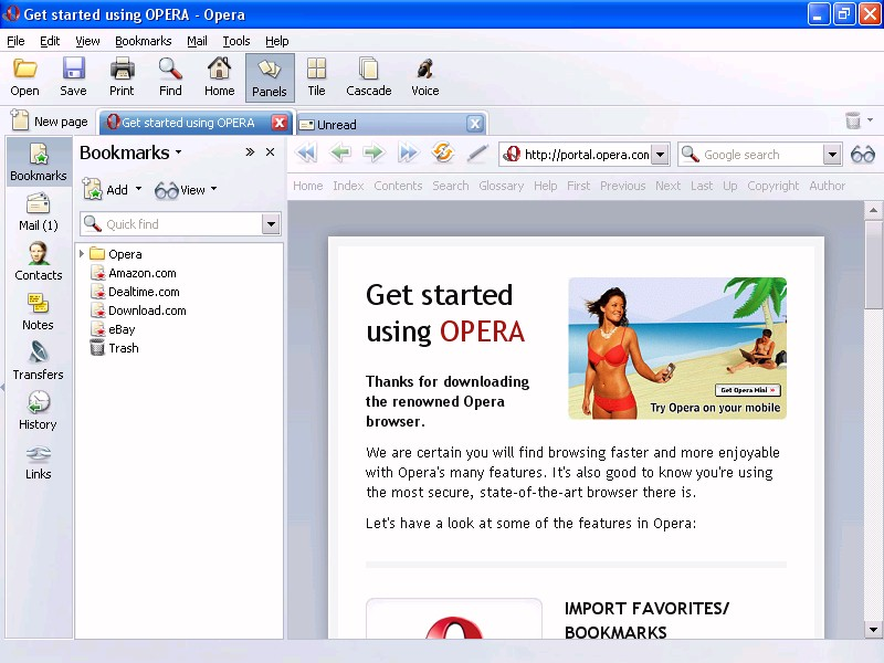 Opera v8 51 (ModemHelp)