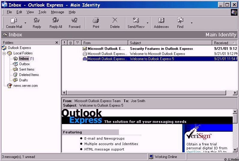 Copy outlook express from one computer