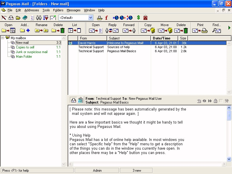 Pegasus Mail 4.73.639 full