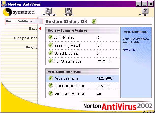 Download Norton AntiVirus Virus Definitions July 19