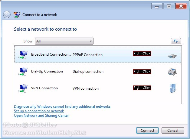 how to connect bsnl broadband to pc windows xp