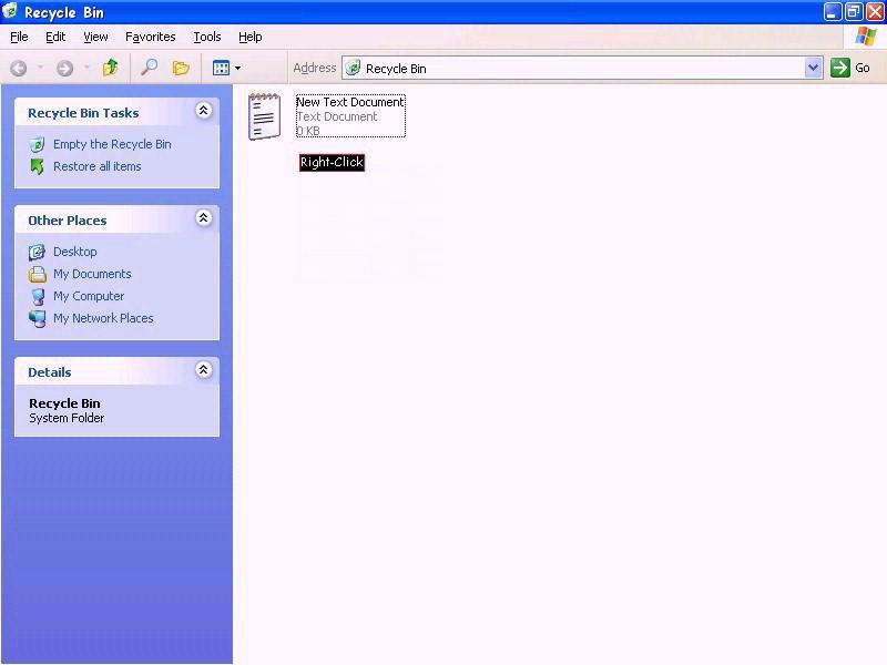 Windows XP / Recycle Bin (ModemHelp)
